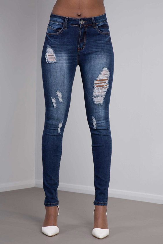 Low Rise Sexy Ripped Jeans Frayed Slim Fit – Lusty Chic