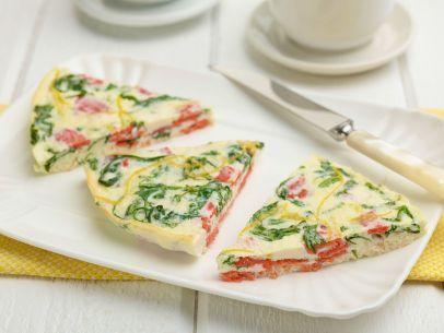 Egg White Frittata with Lox and Arugula