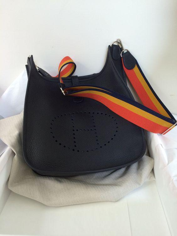 white hermes birkin bag - Hermes Evelyne III Amazon Strap Tri-Color - PurseForum | Purse ...