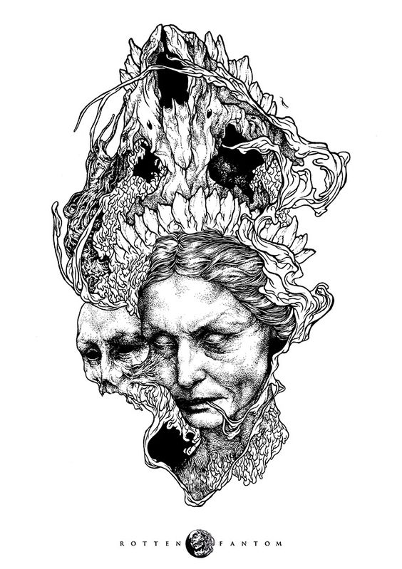 By Rotten Fantom #bleaq #dark #illustration #drawing