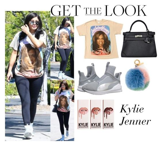 """Kylie Jenner Le Pain Quotidien April 1 2016"" by valenlss ❤ liked on Polyvore featuring Puma, Hermès and Fendi"