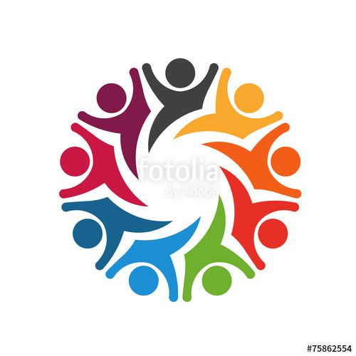 Happy Team Group People 8 Image Logo Business Communication Concept Design Group Icon Illustration People S People Logo Community Logo Logo Concept