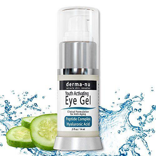 Eye Wrinkle Cream By Derma-nu - Anti Aging Eye Gel Treatment for Dark Circles, Puffiness & Wrinkles - Peptide Collagen Building Formula - Hyaluronic Acid & Amino Acid - .5oz Derma-nu Miracle Skin Remedies http://www.amazon.com/dp/B00QSSEC3O/ref=cm_sw_r_pi_dp_MWaRwb03PNSP4