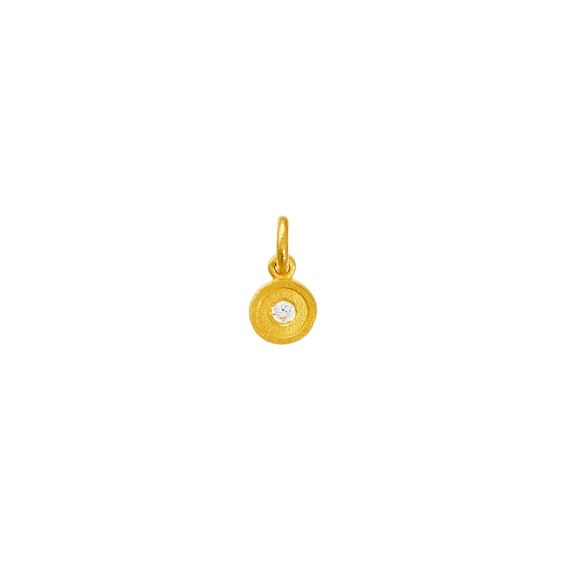 April birthstone 'DIAMOND' - 24kt pure gold jewelry