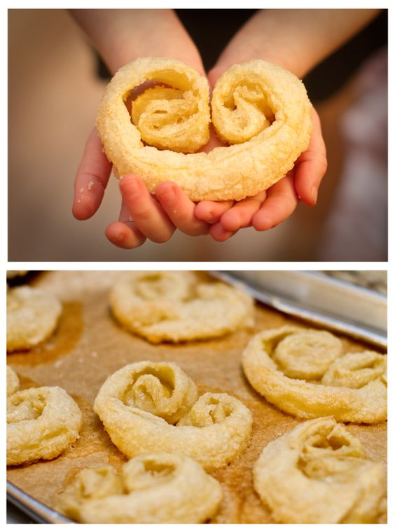 Heart shaped pastries to make with little people.