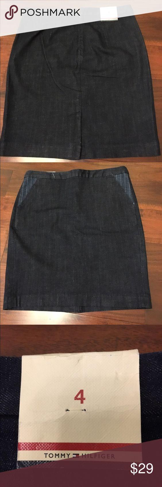 Tommy Hilfiger Denim Skirt -size 4 NWT