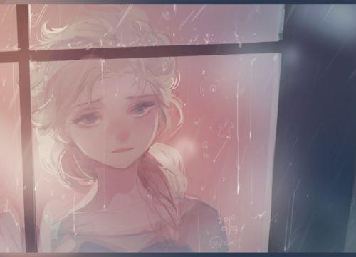 elsa女王美cry