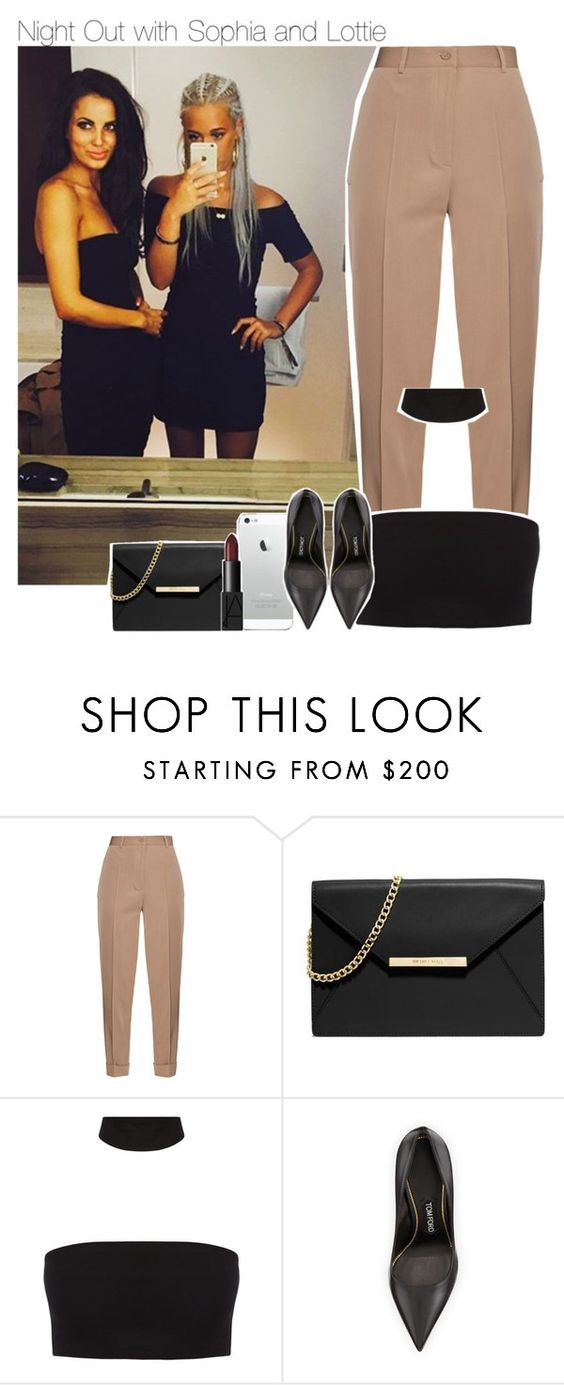 """""""Night Out with Sophia and Lottie"""" by swaggxdirection ❤ liked on Polyvore featuring Bottega Veneta, MICHAEL Michael Kors, Tom Ford and NARS Cosmetics"""