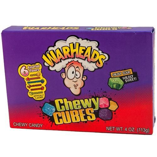 Warheads Chewy Cubes Sour Candy 4 Oz Theater Box In 2021 Sour Candy Chewy Chewy Candy