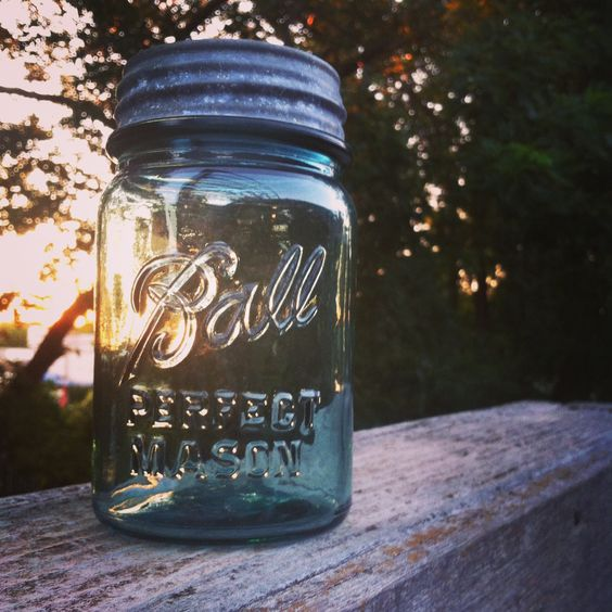bottling up the sunshine in a Ball jar