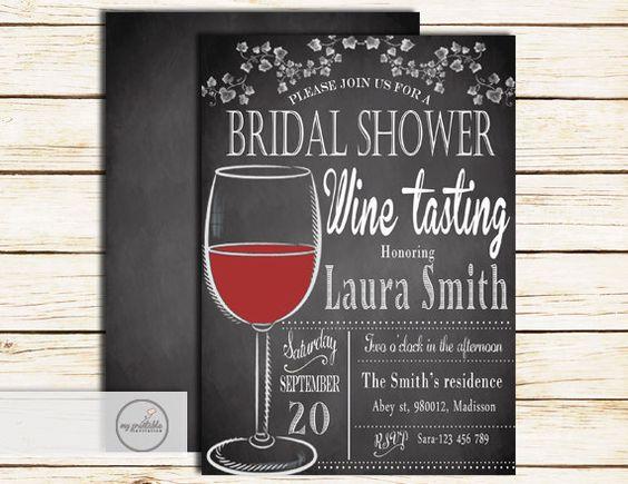 Wine Tasting Bridal Shower Invitation / by MyPrintableInvite
