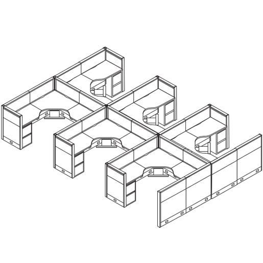 Cubicles layout and nevada on pinterest for Cubicle floor plan