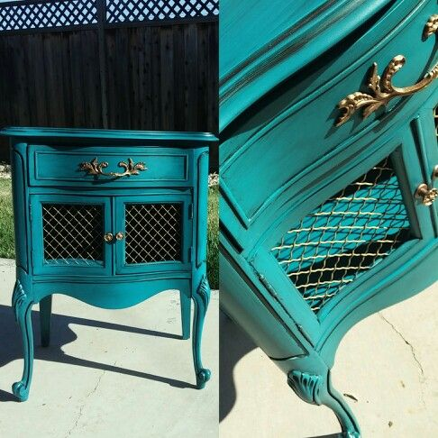 Diy Spray Painted French Provincial Furniture After