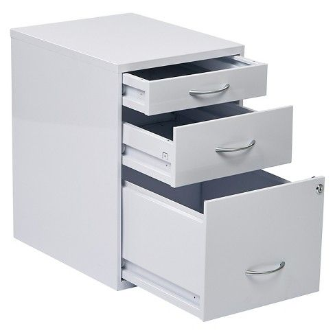 Rolling 2 Drawer Vertical File Cabinet With Lock And Storage Gray Techni Mobili Filing Cabinet Drawer Filing Cabinet Drawers