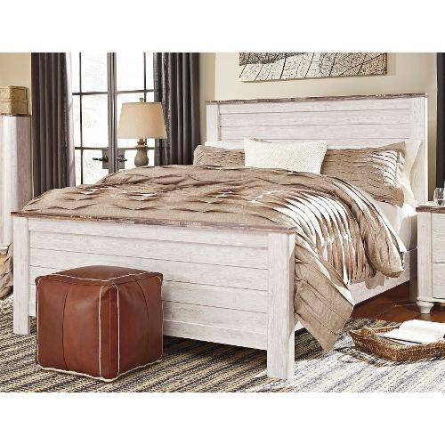 Classic Rustic Whitewash King Bed Millhaven In 2020 Bedroom Sets Queen Contemporary Bedroom Furniture Bedroom Set