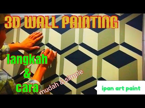 3d Wall Painting Tutorial Cat Tembok 3d Wall Art Paint Ideas