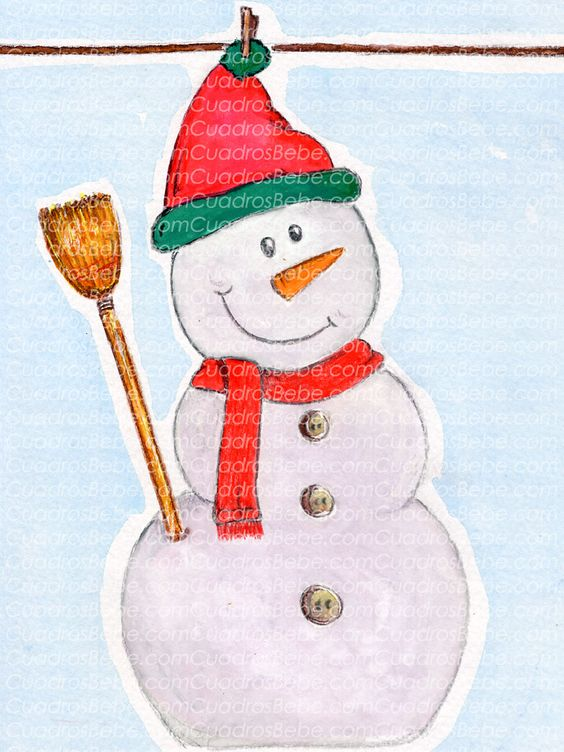 Cuadro bebe mu eco de nieve con su gorro bufanda botones - Cuadros con botones ...
