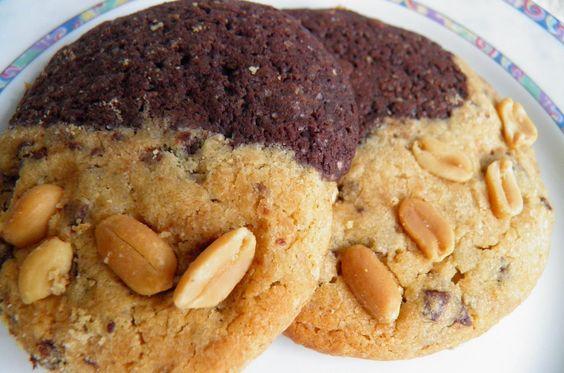 Softe Erdnussbutter-Schoko Cookies