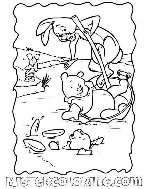 Winnie The Pooh - Free printable Coloring pages for kids | 647x500