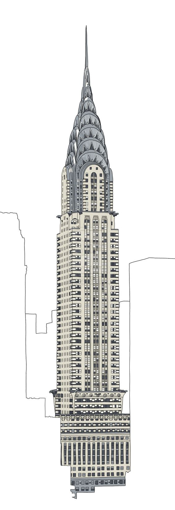 chrysler building drawing - Google Search | Gala ...