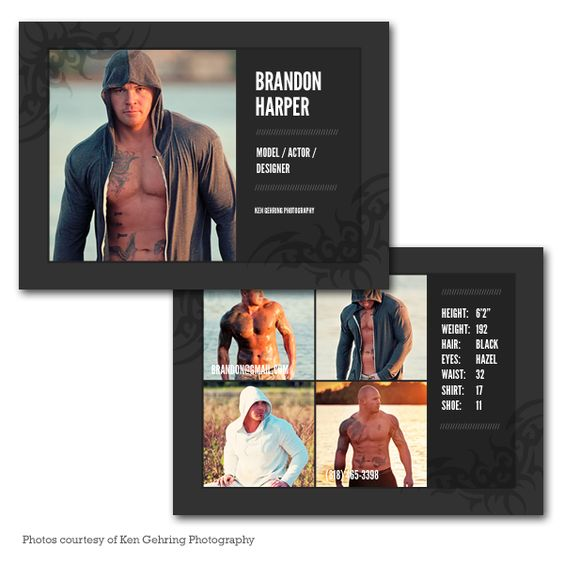Card templates model comp card and graduation announcement cards on pinterest for Model comp card template free