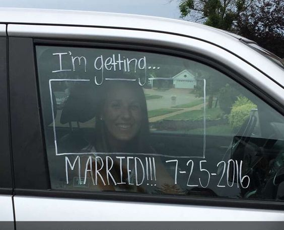 Super cute idea! Car window painting for wedding activities!!!