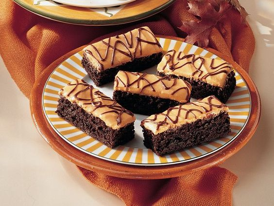 Orange Cream Cheese Brownies - I think that orange and chocolate are the perfect combo.