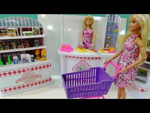 سوبر ماركت باربي تسوق باربي في المتجر البقالة تسوق البقالة قصص اطفال يوميات باربي Youtube Decor Home Decor High Chair