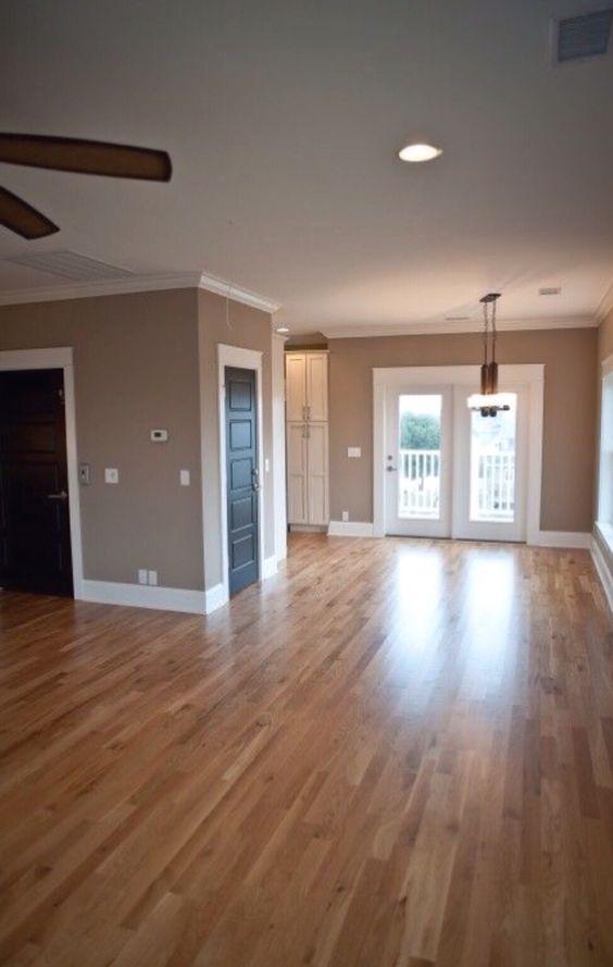 Black doors white trim nesting house home pinterest for Hardwood floors with white trim