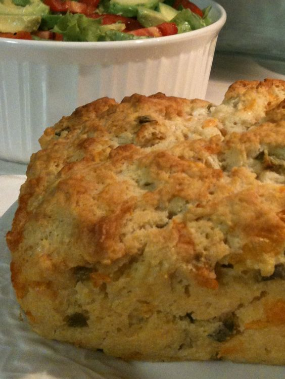 Jalapeño beer cheese bread: super good!  quick and easy.  used regular jarred jalapeños, not pickled.
