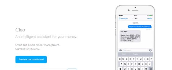 Cleo, an intelligent assistant for your money.