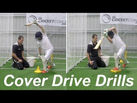 Cover Drive Drills Youtube Cricket Coaching Cricket Sport World Cricket