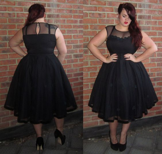 The Faye Dress By Collectif Clothing. Pin up style black dress.