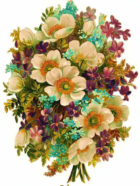 Vintage Floral Scrap ~ FLORES (pág. 3) | Aprender manualidades es facilisimo.com: