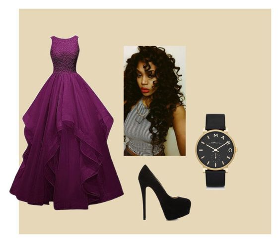 """""""soiree"""" by aiisaatou on Polyvore featuring mode, Giuseppe Zanotti et Marc by Marc Jacobs"""
