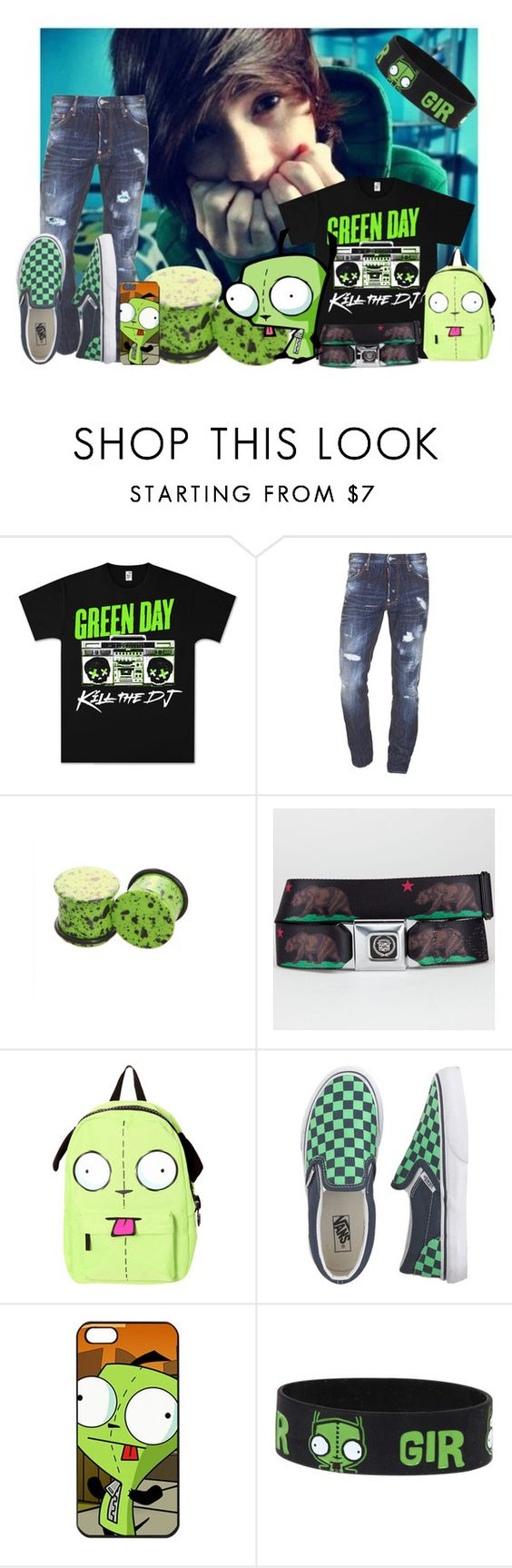 """""""Girtastic"""" by nekoprincess ❤ liked on Polyvore featuring Dsquared2, Buckle-Down and J.Crew"""