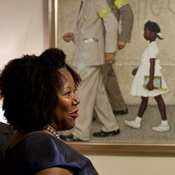 Ruby Bridges talks to President Obama about being the first black child to attend an all-white elementary school and the lesson that it taught her. Learn more at Biography.com.