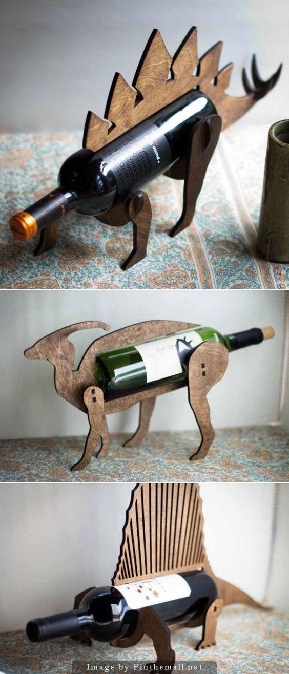 Pinterest the world s catalog of ideas - Dinosaur wine holder ...