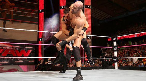 WWE Intercontinental Champion, Dolph Ziggler vs The Miz vs Cesaro