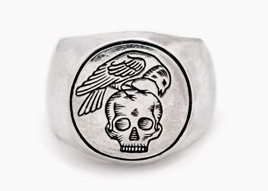 All Men Must Die. With the option of having one set of initals engraved in the skull.