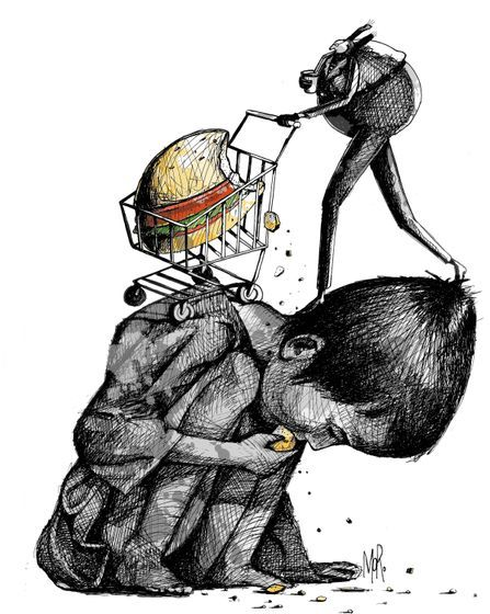 3.1 million children die each year of poor nutrition. Today's cartoon by MORO: http://www.cartoonmovement.com/cartoon/20824: