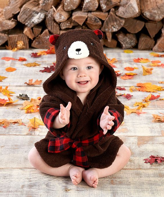 Look at this Red & Brown Beary Hooded Robe - Infant on #zulily today!