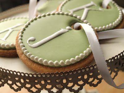 Beautiful monogrammed cookies