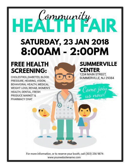 Health Fair Flyer Template Free Munity Health Fair Flyer Template Health Fair Flyer Template Flyer