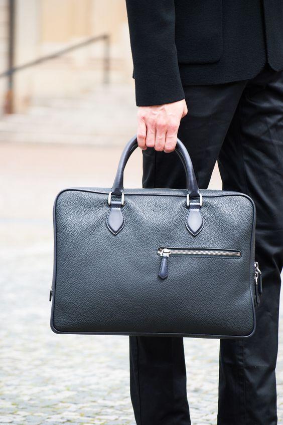 OFFICE BOOSTER #Berluti #Bag #leather #black #look