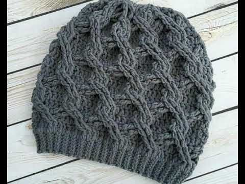 طواقي كروشيه و تريكو رائعة للصبايا و المحجبات ايس كاب للصبايا روووعة Youtube Crochet Slouch Hat Crochet Patterns Crochet