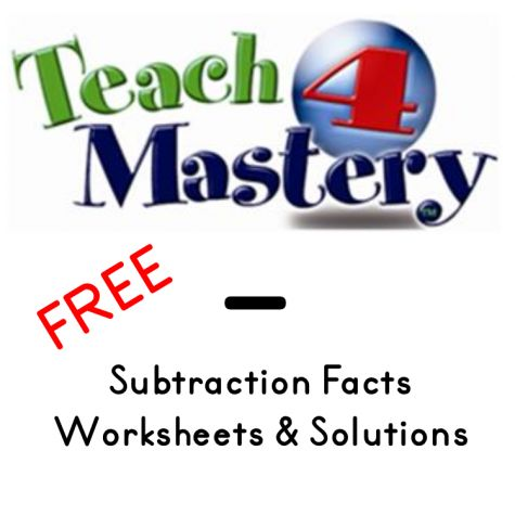 FREE Teach4Mastery Subtraction Worksheets: Teach4Mastery is your ...