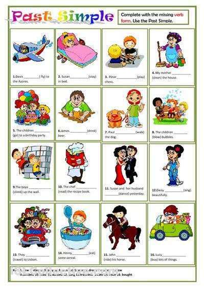 Past simple worksheet. Good for ESL kids.   ESL Grammar   Pinterest ...