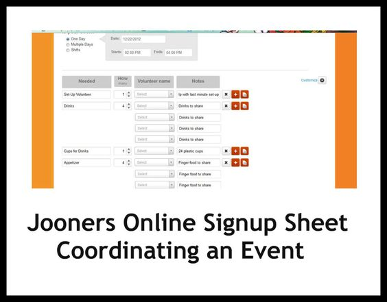Jooners Online Signup Sheet- what I use to organize my homeschool ...