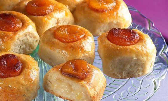 Pão com damasco e recheio de maçã